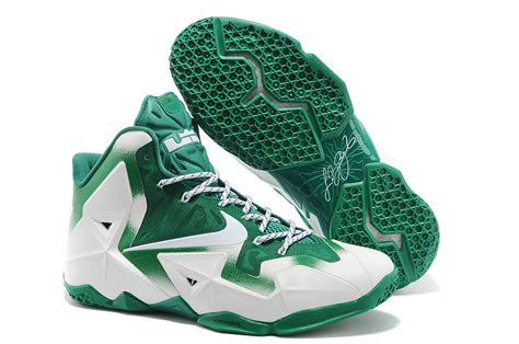nike green and white basketball shoes nike lebron 11 michigan state pe white green for sale