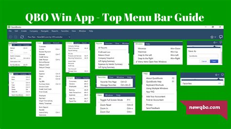 top bar menu qbo win app quickbooks tutorials training blog
