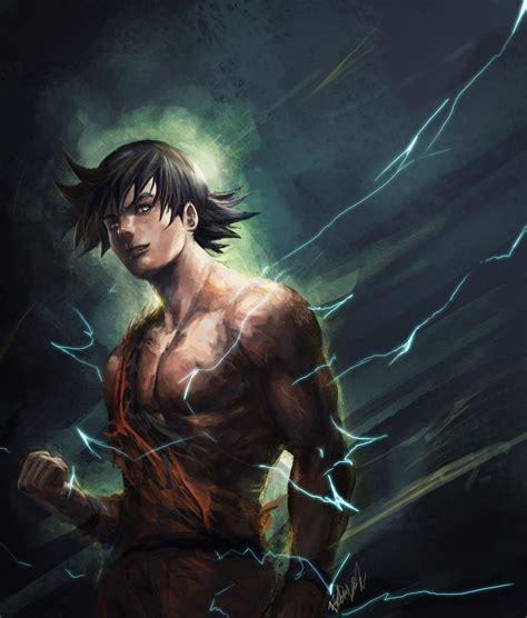 imagenes anime realistas goku by r sraven on deviantart