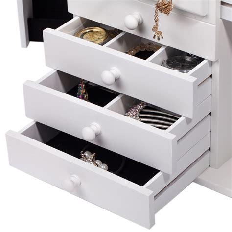 jewelry organizer armoire wood jewelry box organizer armoire ring necklace display