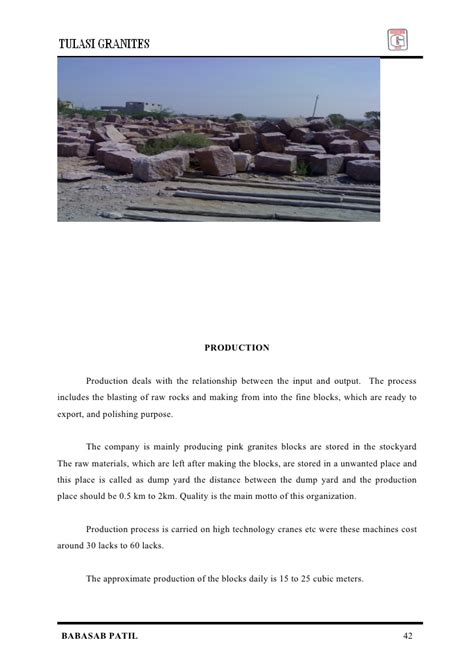 Mba Project Report On Employee Satisfaction by Employee Satisfaction Tulasi Granites Mba Project Report