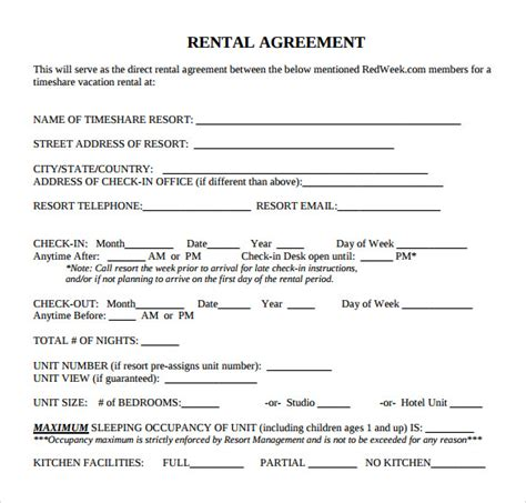 28 condo lease agreement template free florida