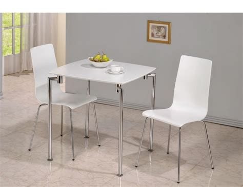 dove white 2 seater square breakfast table and chairs