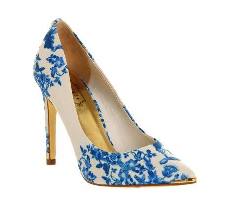 womens ted baker luceey high heel blue satin heels ebay