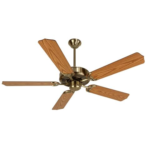craftmade pro builder antique brass ceiling fan without