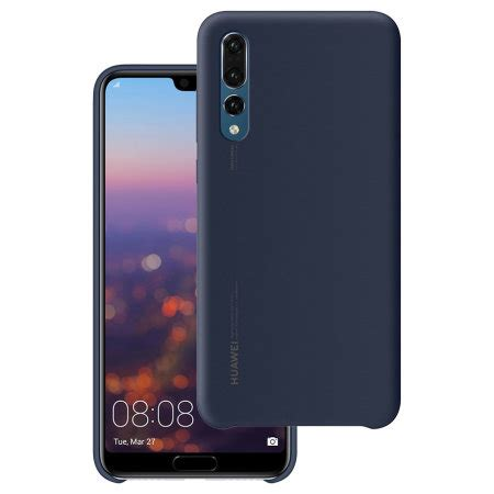 official huawei p20 pro silicone case blue