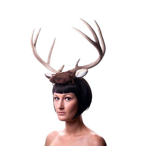 deer antler headband big brown 1930s fabric