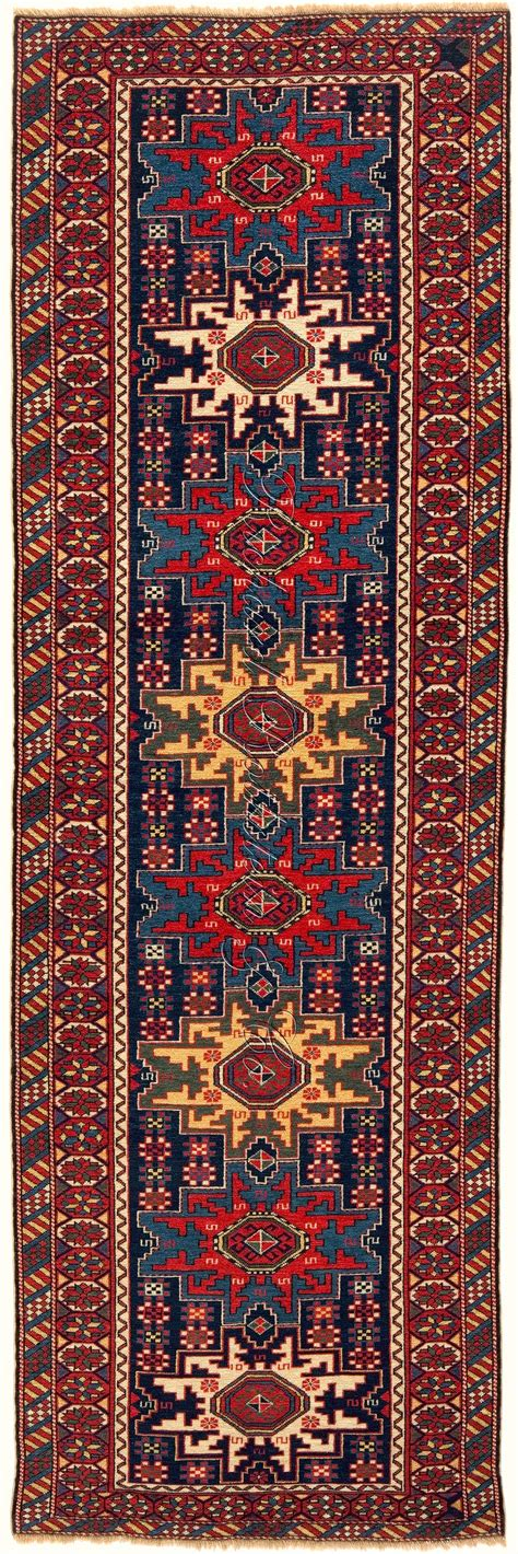 runners rugs lesghi rug runner with classic border caucasian lesghi rug