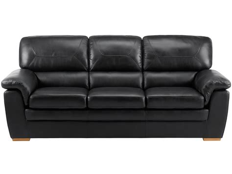 Large Black Leather Sofa Spencer Large Sofa Black Leather Sofa With Rustic Oak