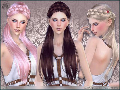 sims 3 hair braid tsr the sims resource over anto surrender hair