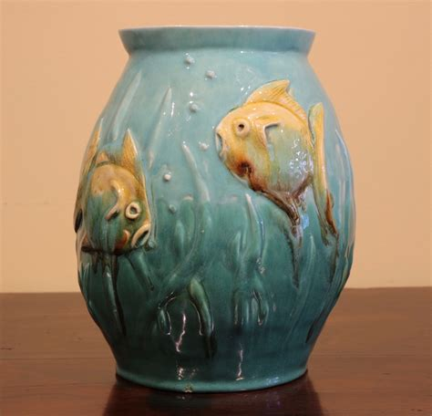 Vase Fish by Australian Pottery Fish Vase Signed F Jackson The