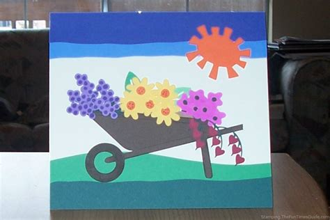 handmade mothers day card a5 handmade mothers day card handmade wheelbarrow card with flowers great for mother