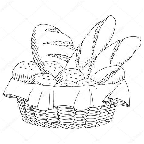 cesto alimentare illustrazione vettoriale di schizzo pane cesto alimentare