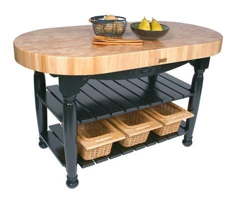 kitchen island butcher block table boos harvest table oval butcher block island