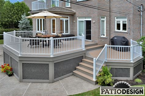 terrasse patio patio design construction design de patios et