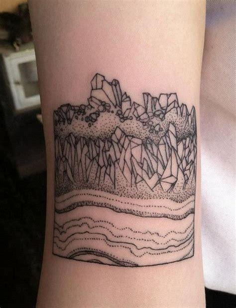 simple black tattoos big black ink simple landscape on wrist