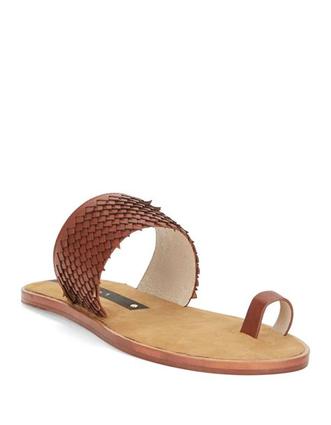 matt bernson sandals lyst matt bernson crane toe ring sandals in brown