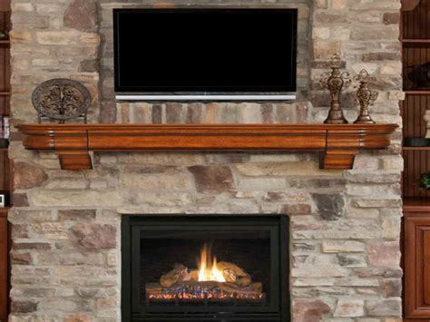 Fireplace Shelves by Bloombety Fireplace Mantel Shelves With Bronze Ornaments