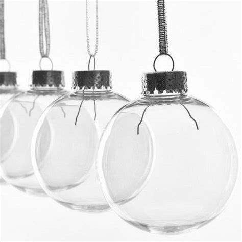 100mm clearfillable bauble clear seamless plastic quot glass style quot baubles 67 80 100mm craft favours wedding