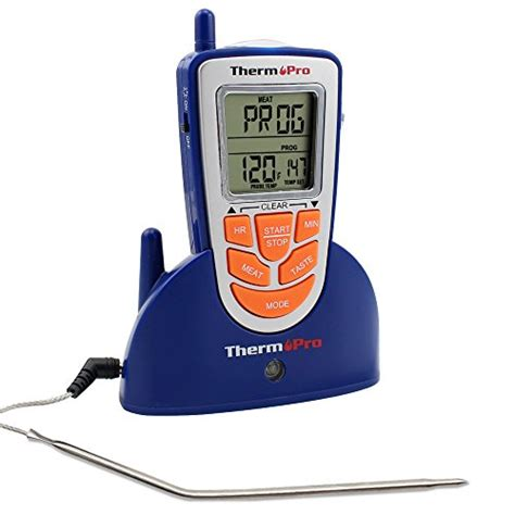 Digital Termometer Daging Bbq Wireless Timer Alarm With Probe Sensor thermopro tp 09 300 remote wireless digital electronic food cooking thermometer for