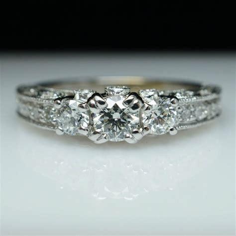 filigree engagement ring 3 vintage