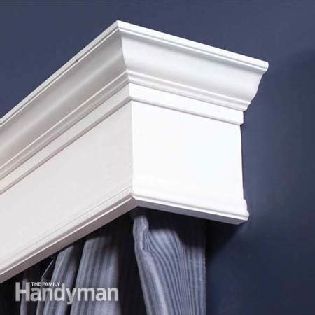 Simple Cornice Design How To Build Window Cornices The Family Handyman