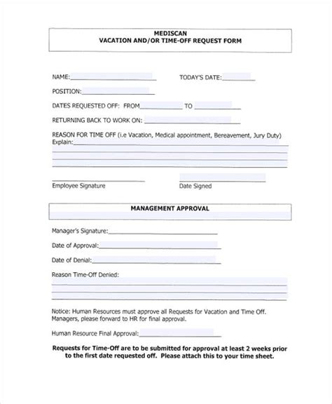 Request Form Template Time Request Form Template