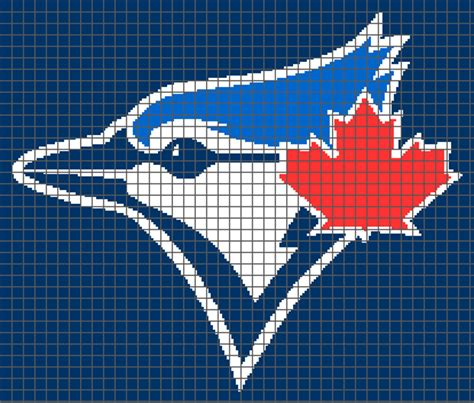 blue jay pattern toronto blue jays graph and row by row written crochet