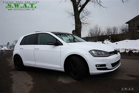 volkswagen white vw golf 7 wrapped in matte white autoevolution