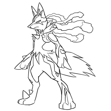 pokemon coloring pages lucario mega lucario coloring pages coloring pages now pokemon