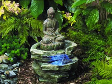 led lighted serene buddha zen garden decor water