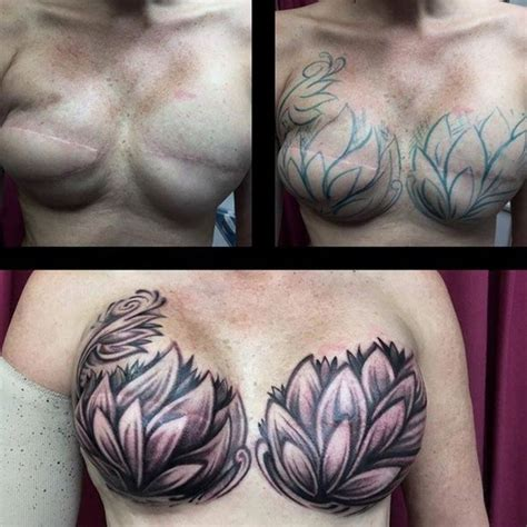 tattoo cover up on breast breast cancer survivor gets this amazing tattoo to cover