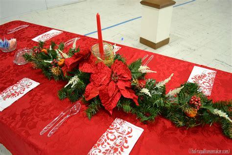 Christmas Dinner Table Centerpieces - christmas dinner table ideas from our church s christmas dinner celebration