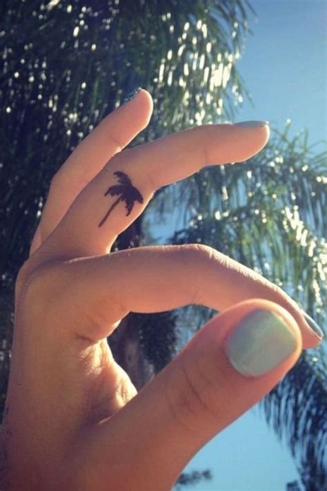 finger tattoo not taking 14 palm tree 38 adorable tiny finger tattoos for girls