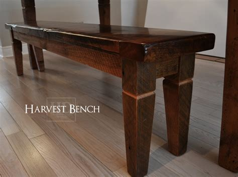 harvest table with bench harvest table style bench blog