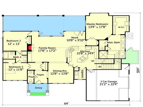 Small House Plans With Open Floor Plan Spacious Open Floor Plan House Plans With The