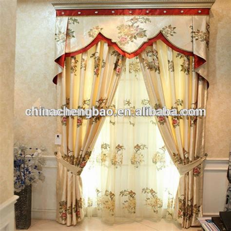 latest fancy valances embroidered patterns double the