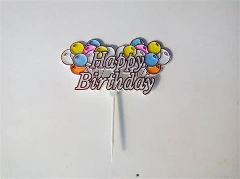 Hiasan Kue Badut Balon Warna jual hiasan kue ulang tahun tulisan happy birthday balon balon hikmahpartyshop