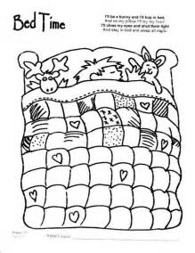 Bed Quilt Colouring Pages sketch template