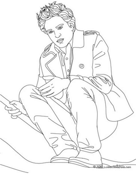 Coloring Pages Of Robert Pattinson And Taylor Lautner Twilight Coloring Pages