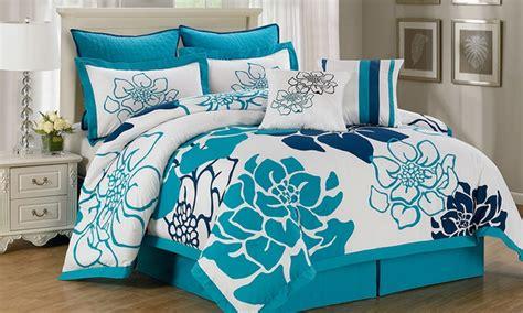 Overstuffed Comforter by 8 Reversible Comforter Set Groupon Goods