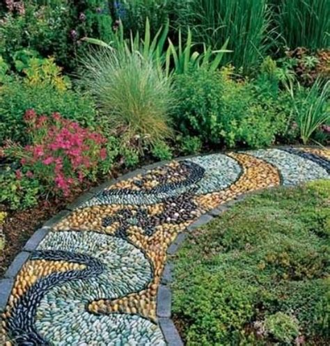 Pebbles For Backyard by Beautiful Garden Path Designs And Ideas For Yard