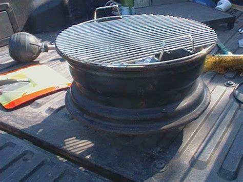diy steel car rim barbecue grill proporzione divina