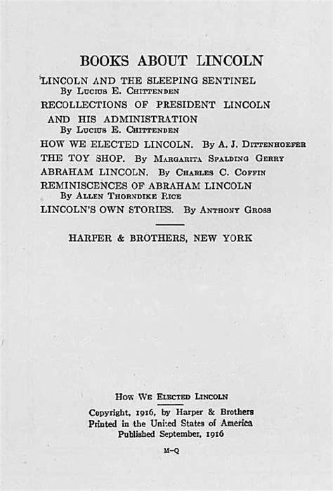 recollections of president lincoln and his administration classic reprint books how we elected lincoln intro