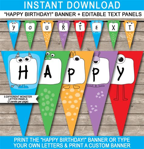 happy birthday banners templates banner for birthday with picture alexabanner
