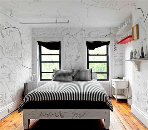 drawing on your bedroom wall artistieke huisinrichting vol met illustraties