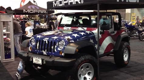 american flag jeep 2012 jeep rubicon american flag youtube
