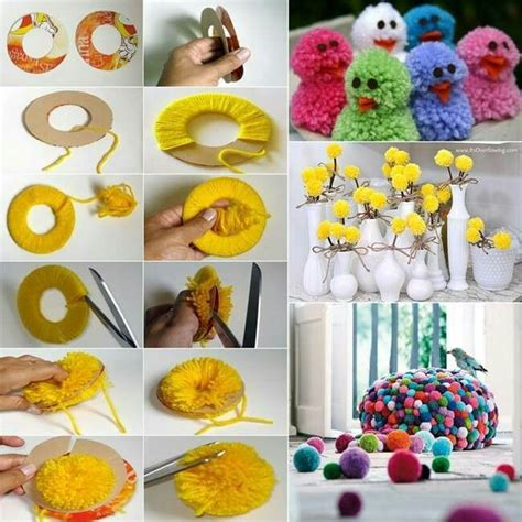 How To Make Handmade Things At Home - perlas de estambre manualidades