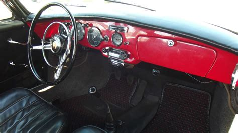 black porsche red interior 1962 porsche 356 b coupe red with black interior superb