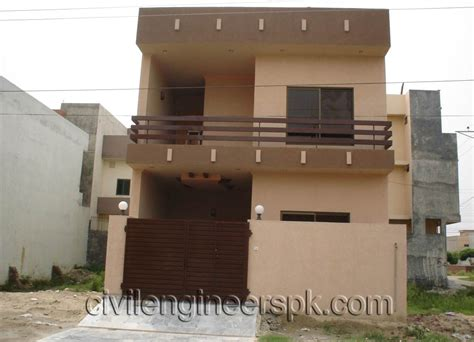 home design for 4 marla front views civil engineers pk